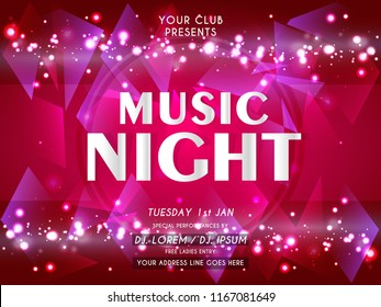 Innovative Party Flyers with creative design illustration for Music Night Party Flyer or Brochures.