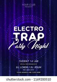 Innovative Party Flyers with creative design illustration for Electro Trap Party Night Flyer or Brochures.