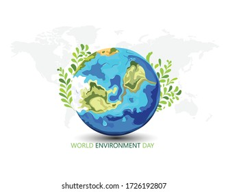 innovative Poster Or Banner Of World Environment Day