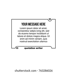 quote template quotes speech box bubble stock vector royalty free