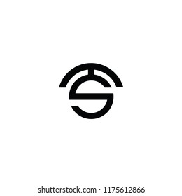 Inovate TS Letter Logo Design Creative  and Modern. Vector. 5K.