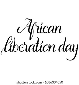Inscription African liberation day