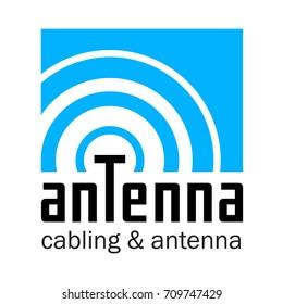 Inscription ANTENNA. Logo design. Vector illustration.