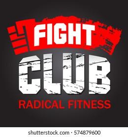 The inscription Fight Club. Vector illustration.