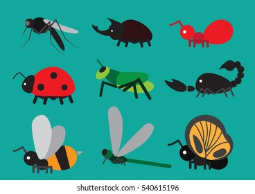 insect - animal icon set