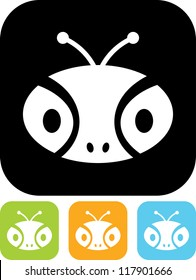 Insect head - Vector icon isolated