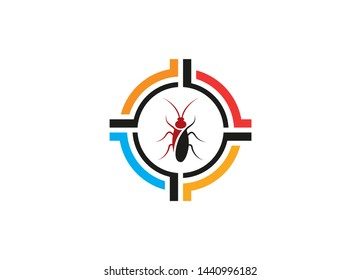 Insect killer logo, Insect logo design