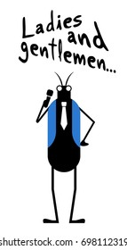 Insect and ladies and gentlemen message