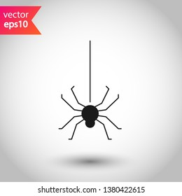 Insect vector sign. Illustration of vector spider icon. Spider vector icon. EPS 10