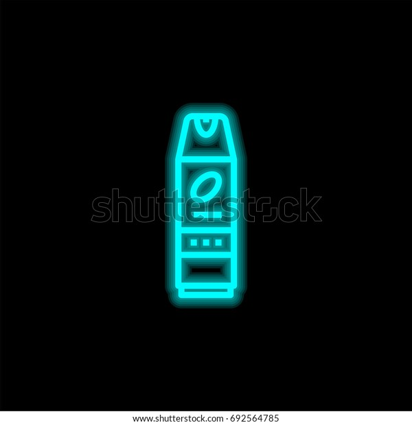 Insecticide blue glowing neon ui ux icon. Glowing sign logo vector