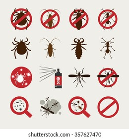 Insecticide Icon set