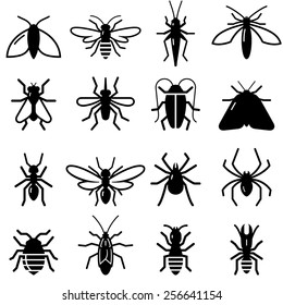 Insects and bugs icons