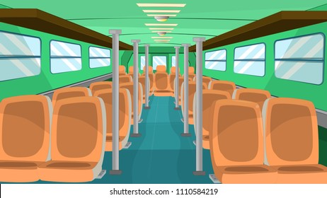 inside bus - cartoon background