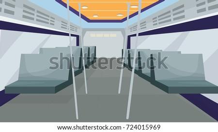 inside bus vector inside train cartoon のベクター画像素材