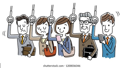 Inside the car during commuting