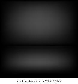 Inside empty dark room with poor lighting