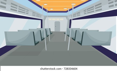 inside train back perspective, vector train inside