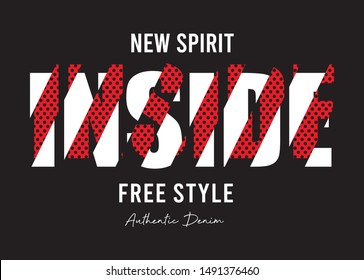 inside typography for print t shirt