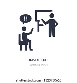 insolent icon on white background. Simple element illustration from UI concept. insolent sign icon symbol design.