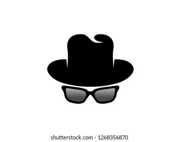 inspector hat glasses logo