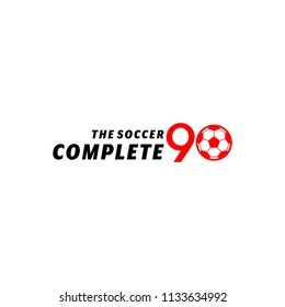 Inspiration logo for a football competition with the number 90 as the time to compete.