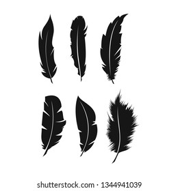 Inspiration logo template sign feather pen write