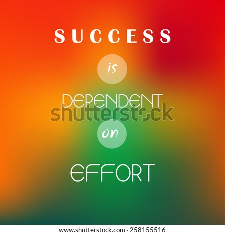Inspiration Motivational Life Quotes On Blur Stock Vector Royalty