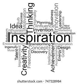 Inspiration word cloud, vector