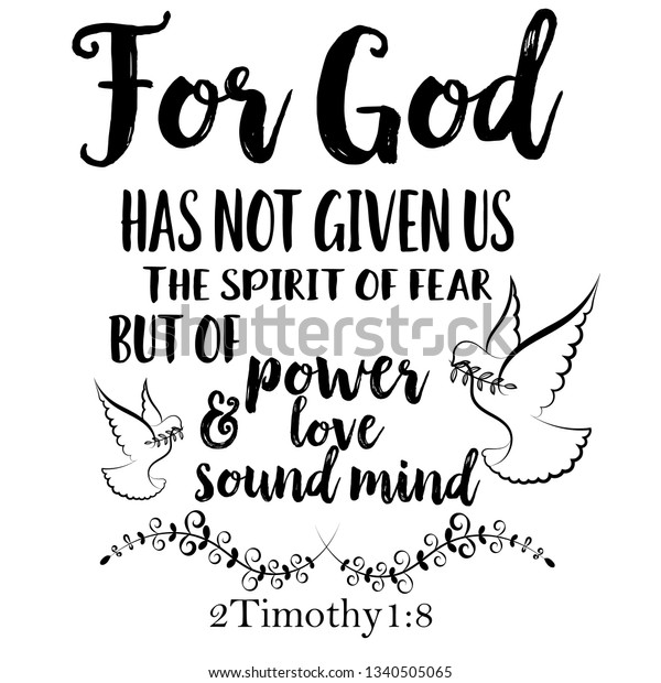 Inspirational Bible Quote God Has Not Stock Vector Royalty