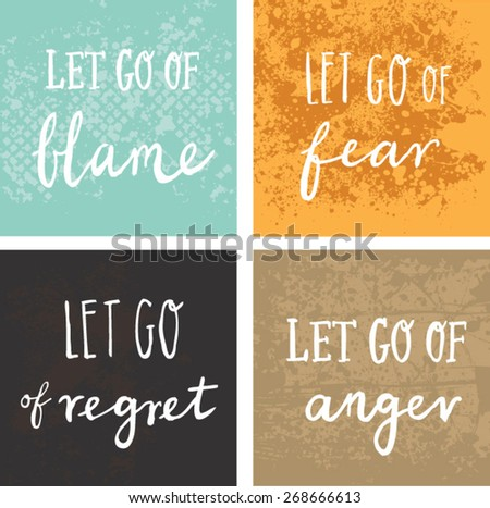 Inspirational Encouraging Quote Let Go Blame Stock Vector Royalty