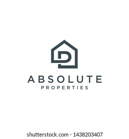 inspirational / logo ap in the form of a simple house