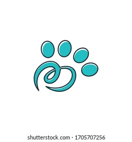 Inspirational logo: simple and elegant paw. The logo is suitable for business companies etc.