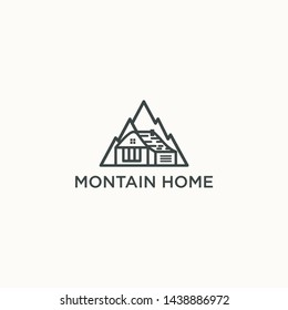 inspirational / luxury mountain hill logo