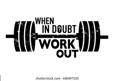 Inspirational motivational print design / Workout training gym fitness bodybuilding