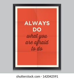 inspirational and motivational quotes poster by Ralph Waldo Emerson. Effects poster, frame, colors background and colors text are editable. Ideal for print poster, card, shirt, mug.