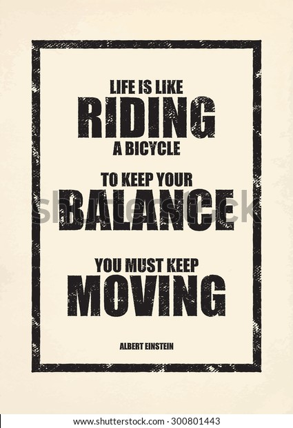 LIFE INSPIRATIONAL MOTIVATIONAL POSTER PRINT SIGN LIFE IS LIKE RIDING A BICYCLE