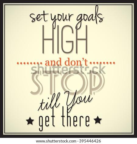 Inspirational Quotation Modern Style Motivational Message Stock ...