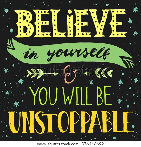 inspirational quote believe yourself you will のベクター画像素材