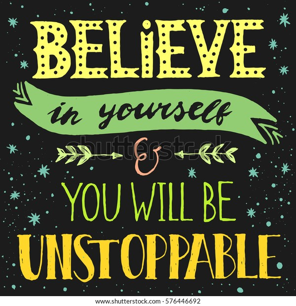 Inspirational Quote Motivation Gift #16966 IP02 Believe In Yourself Keyring