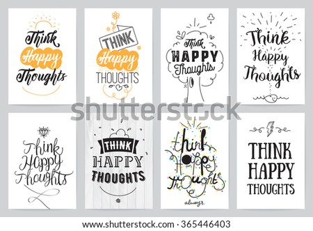 Quote Cards Impressive Inspirational Quote Cards Hand Drawn Calligraphy Stock Vector