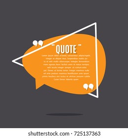 Inspirational quote template