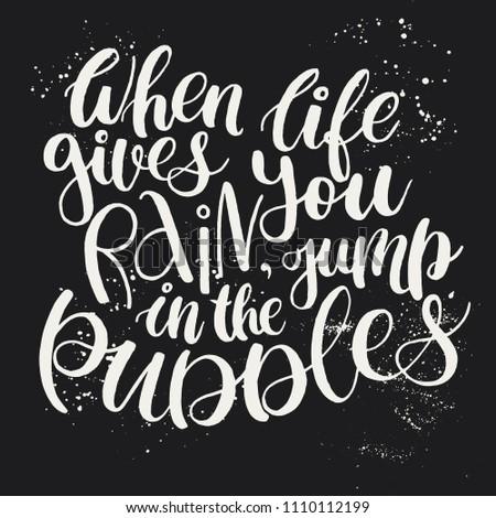 Inspirational Quote When Life Gives You Stockvector Rechtenvrij