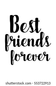Best Friends Forever Quotes Images Stock Photos Vectors Shutterstock