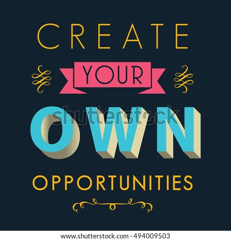 Inspirational Quotes Opportunity Life Concept Stock Vector Royalty
