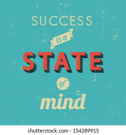 Inspirational quotes in retro style, success concept, vector background illustration