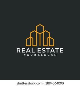 Inspirational real estate building logo design bundle