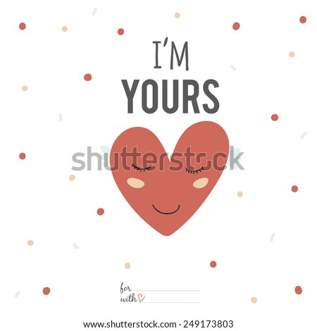 Inspirational Romantic Love Card Happy Valentines Stock Vector
