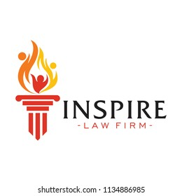 Inspire Law Firm Logo Design Inspiration Vector