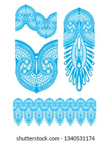 Inspired by Henna tattooing, perfect for textile design