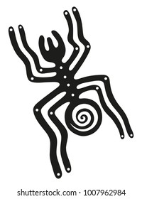 Inspired by the Nazca lines in Peru. The spider.